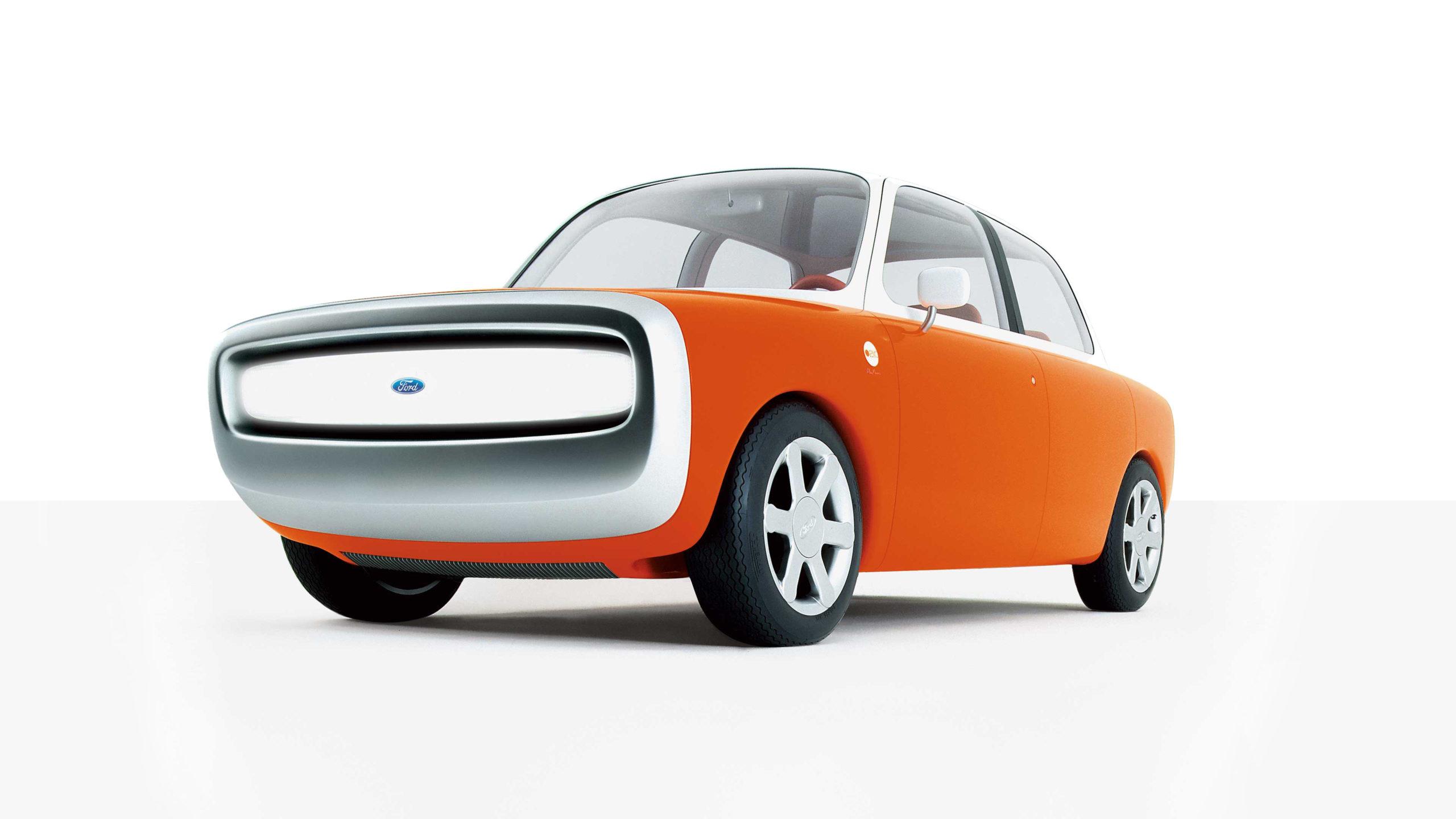 Ford 021C Concept car in orange