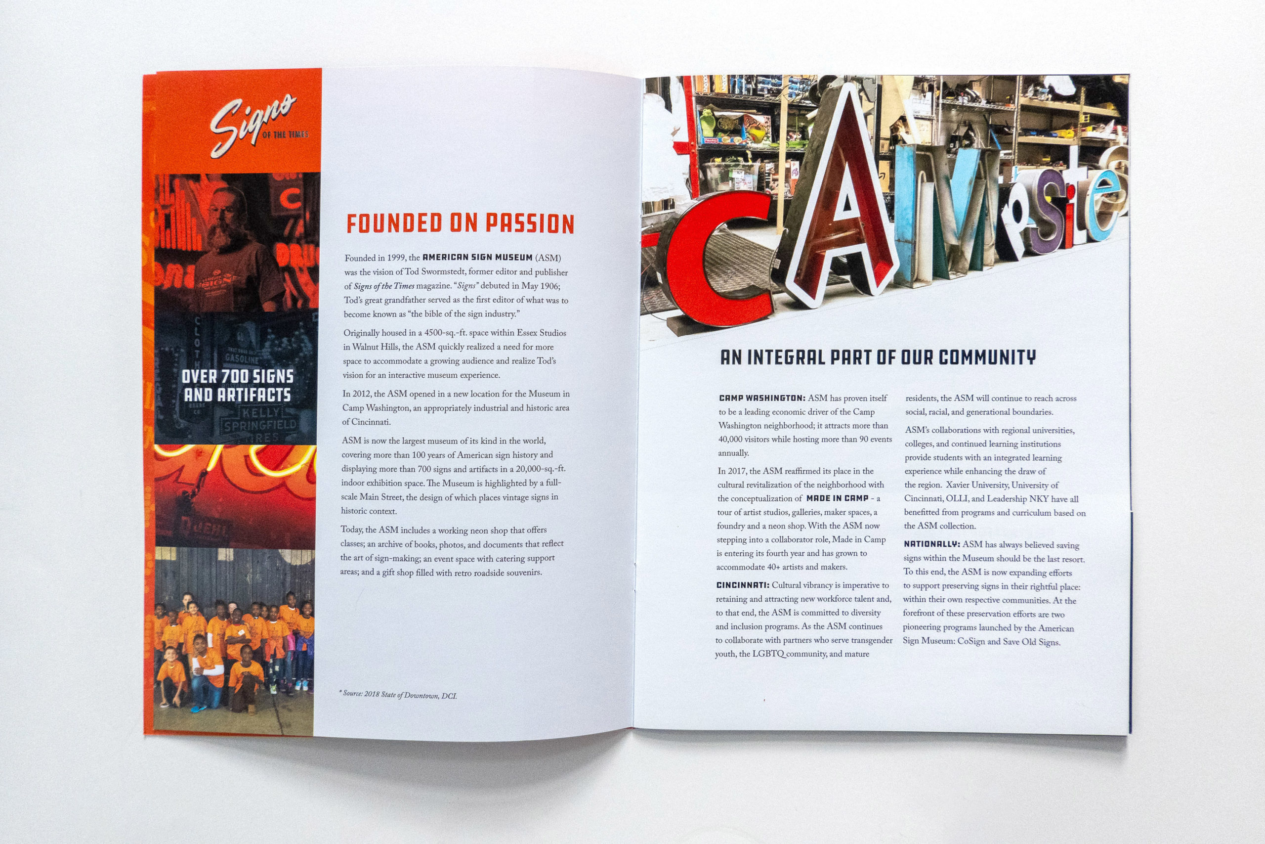 Interior spread of prospectus with introduction