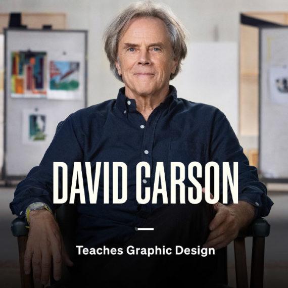 David Carson teaches design (Masterclass still)