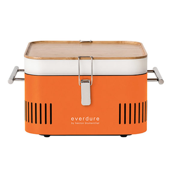 Everdure orange portable charcoal BBQ