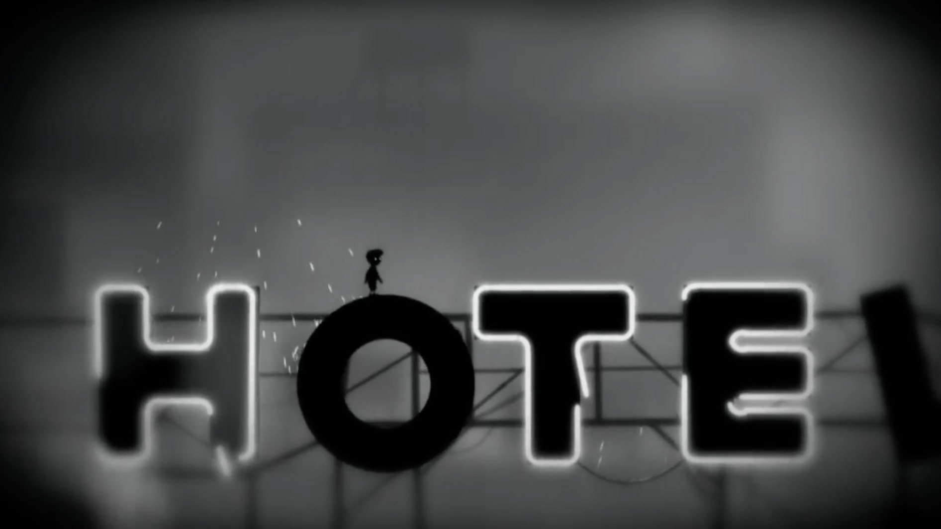 A videogame in black and white