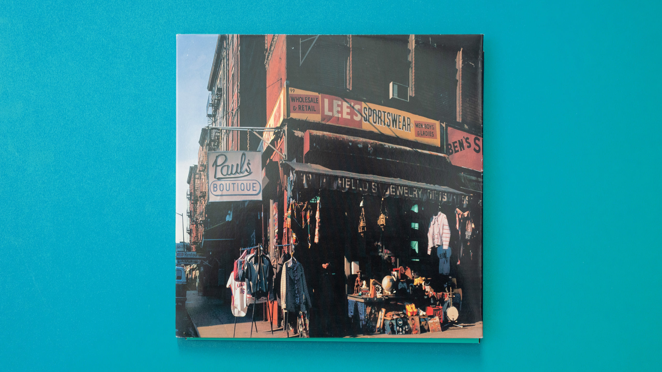 Album cover for the Beastie Boy's album called Paul's Boutique