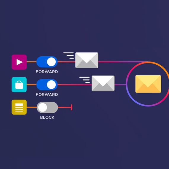 Icons illustrating different email options