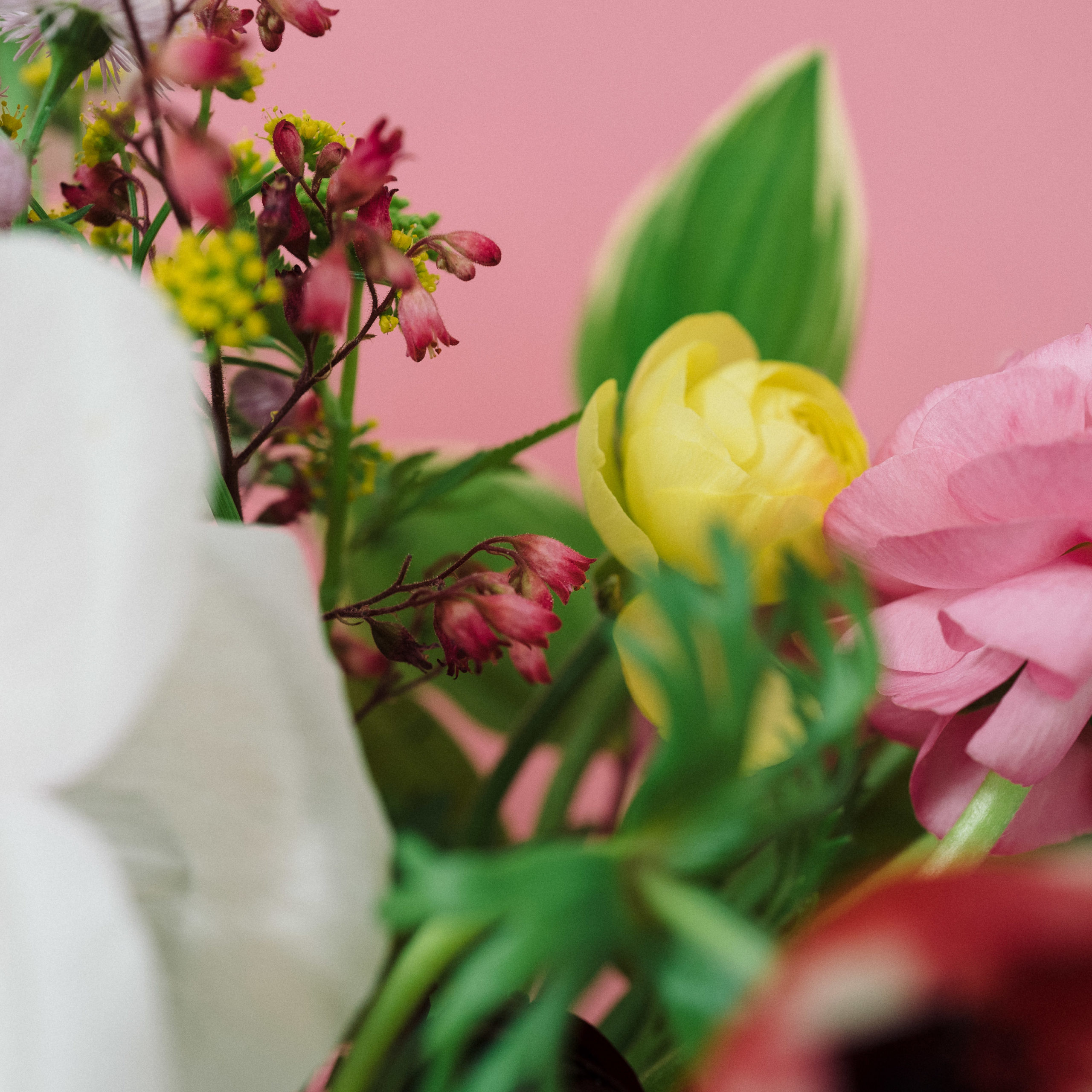 Detail of a bouquet of flowers