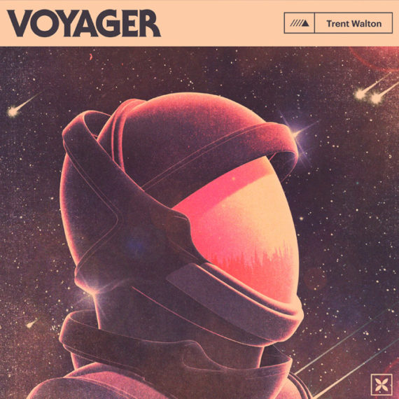 Album cover with an astronaut Helmut