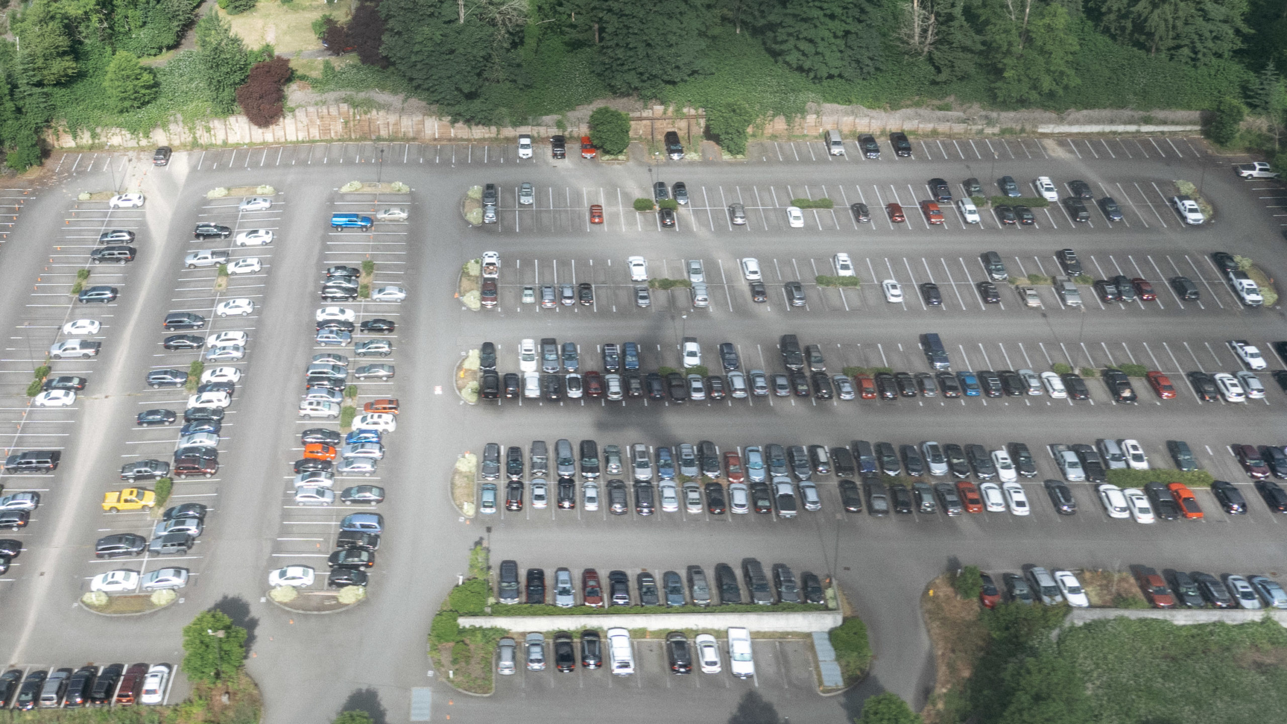 Shadow of a plane on parking lot
