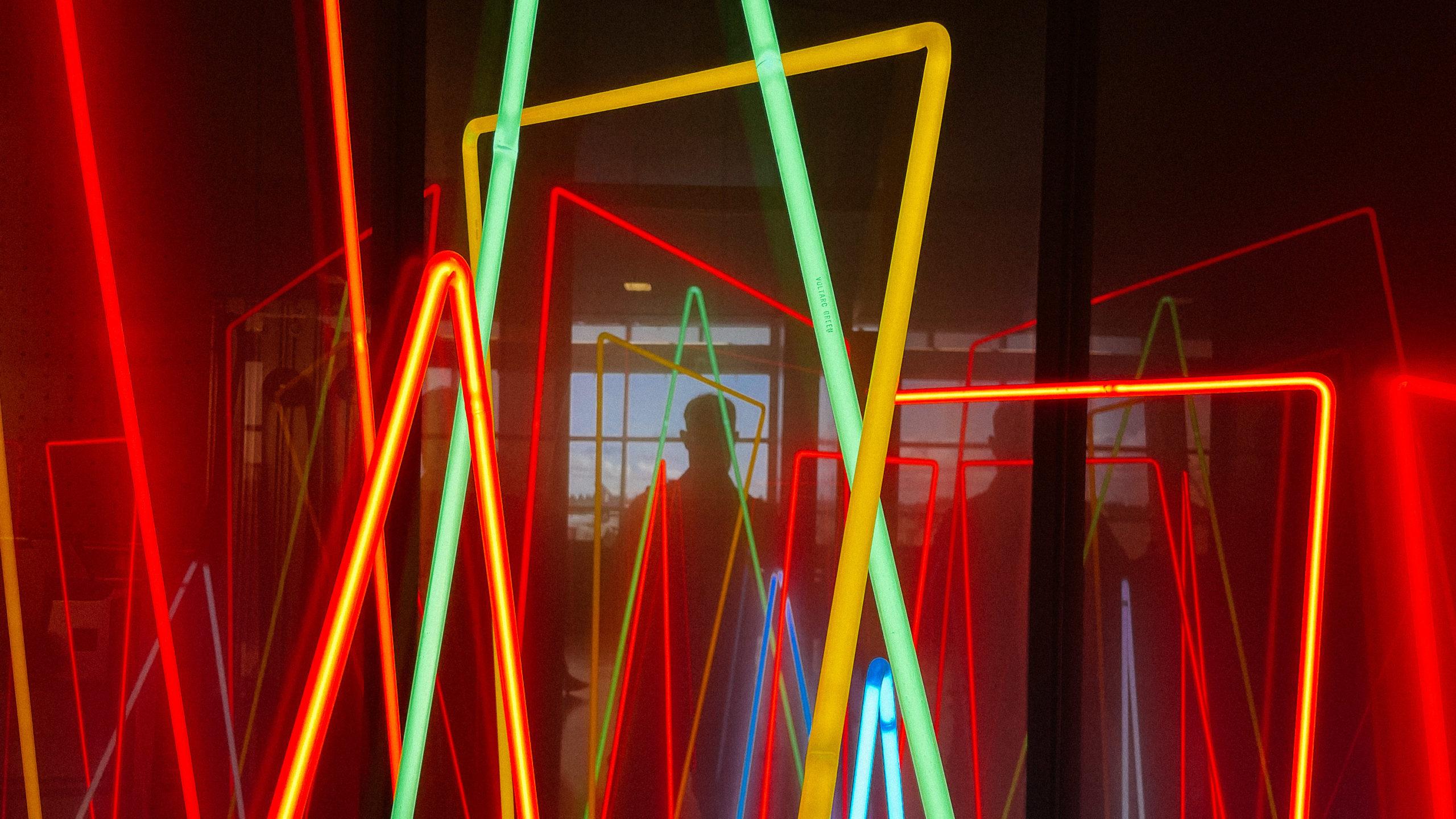 Colorful neon art