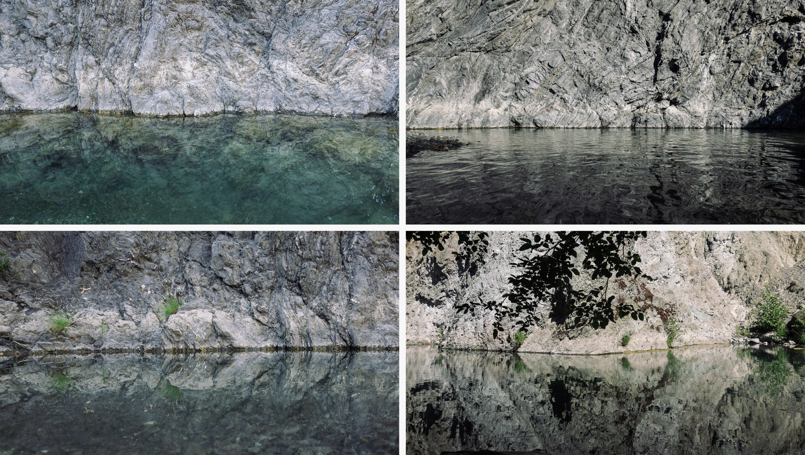 The waterline in four different photos