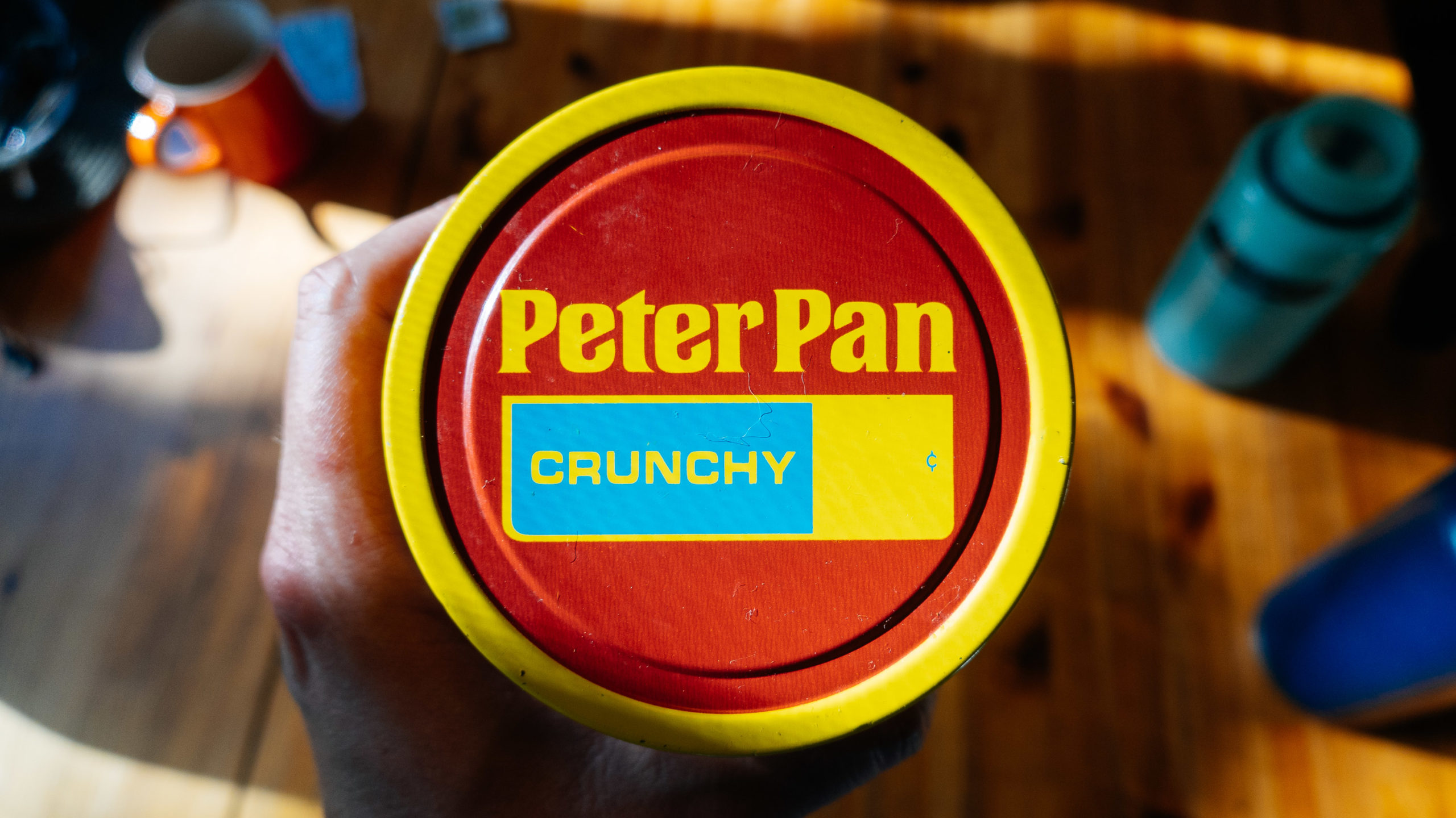 A very old Peter Pan lid for peanut butter