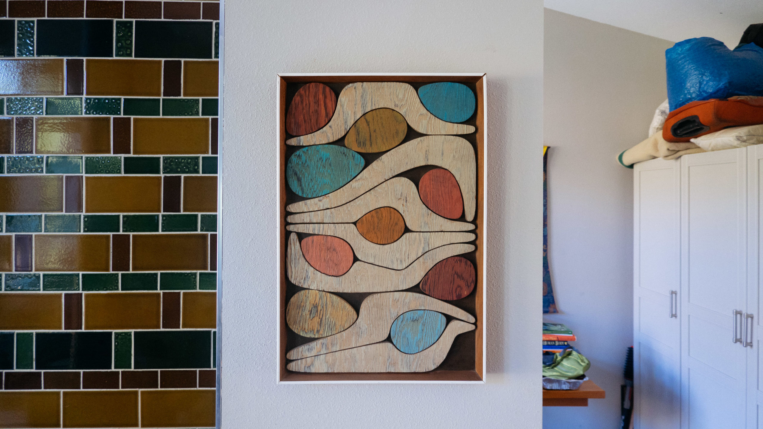 An abstract piece of art made from wood