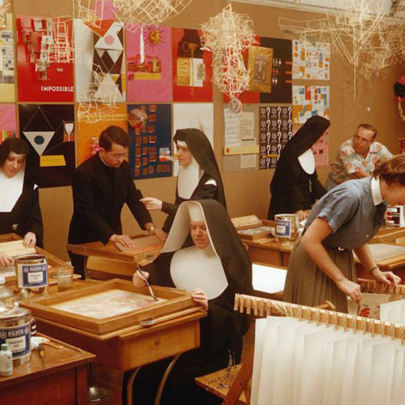 Nuns making art and designing things!