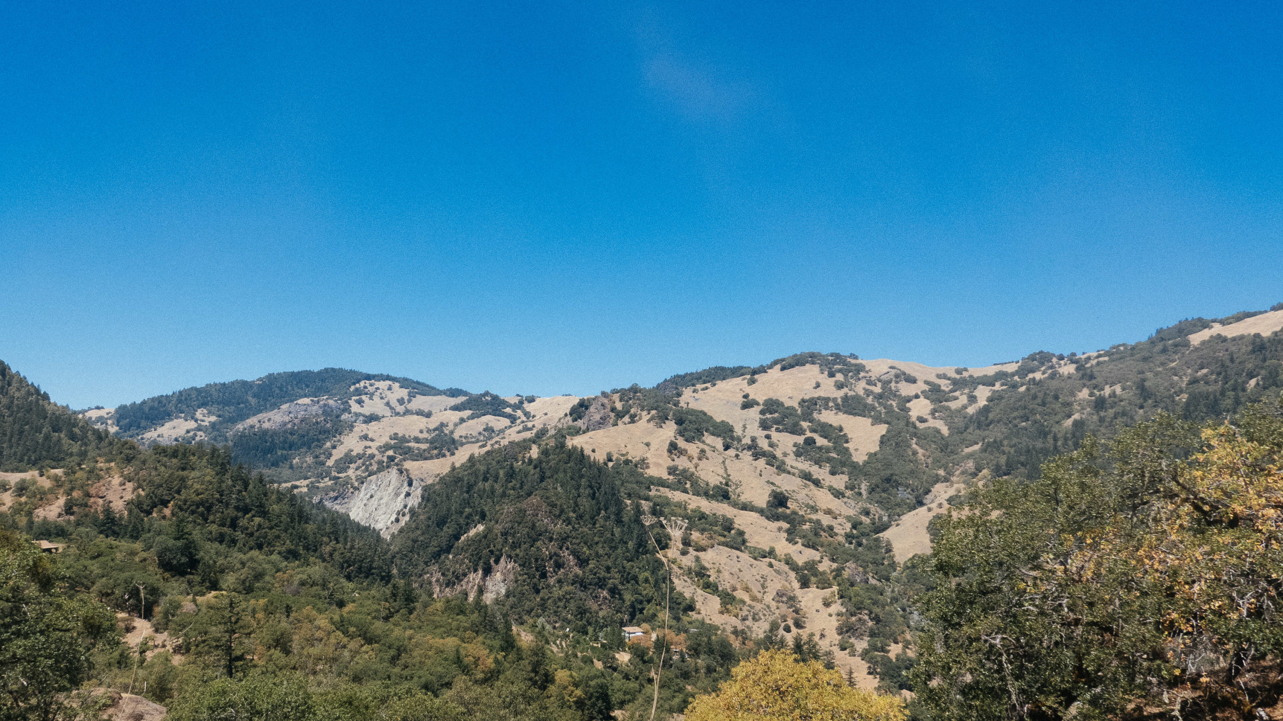 Low lying mountains in California