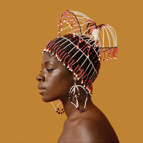 Photo of black woman with elaborate headpiece
